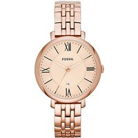 fossil ladies jacqueline rose gold tone watch