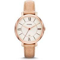 fossil ladies jacqueline leather watch