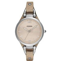 fossil ladies georgia light tan leather watch