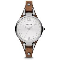 fossil ladies georgia brown leather watch
