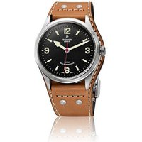 tudor gents heritage ranger leather cuff 41mm automatic watch