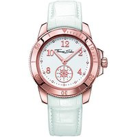 thomas sabo glam and soul ladies white leather watch
