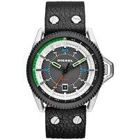 Diesel Dz1717 Rollcage Black Leather Men's Watch