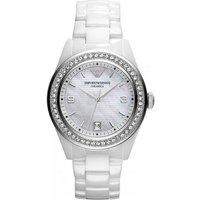 Emporio Armani Ar1426 Ladies Ceramica Ceramic Chronograph Watch