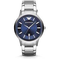 Emporio Armani Ar2477 Mens Renato Blue Silver Watch
