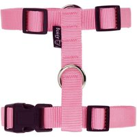 Bunty Adjustable Nylon Dog Puppy Fabric Harness Vest Anti Non Pull Lead Leash  Pink   Large
