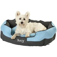 Bunty Anchor Waterproof Dog Bed, Soft Washable Hardwearing, Blue / Large
