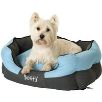 Bunty Anchor Waterproof Dog Bed, Soft Washable Hardwearing, Blue / Medium