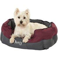 Bunty Anchor Waterproof Dog Bed, Soft Washable Hardwearing, Red / Medium