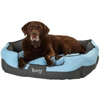 Bunty Anchor Waterproof Dog Bed, Soft Washable Hardwearing, Blue / Extra Large