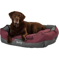 Bunty Anchor Waterproof Dog Bed, Soft Washable Hardwearing, Red / Extra Large