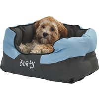 Bunty Anchor Waterproof Dog Bed, Soft Washable Hardwearing, Blue / Small