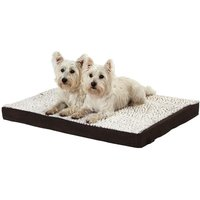 Bunty Ultra Soft Fur Washable Dog Pet Mattress Basket Bed Cushion Fleece Pillow, Brown / Medium