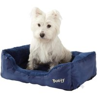 Deluxe Soft Washable Dog Pet Bed   Basket  Bed Cushion with Fleece Lining  Blue   Medium