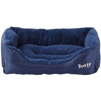 Deluxe Soft Washable Dog Pet Bed   Basket  Bed Cushion with Fleece Lining  Blue   Small