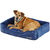 Deluxe Soft Washable Dog Pet Bed   Basket  Bed Cushion with Fleece Lining  Blue   X Large