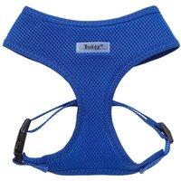Soft Mesh Fabric Dog Puppy Pet Adjustable Harness Lead Leash with Clip  Blue   Medium