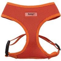 Soft Mesh Fabric Dog Puppy Pet Adjustable Harness Lead Leash with Clip  Orange   Medium