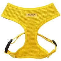 Soft Mesh Fabric Dog Puppy Pet Adjustable Harness Lead Leash with Clip  Yellow   Small