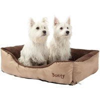 Deluxe Soft Washable Dog Pet Bed   Basket  Bed Cushion with Fleece Lining  Cream   Large