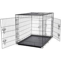 Bunty Metal Dog Cage Crate Bed Portable Pet Puppy Training Travel Carrier Basket, XX-Large