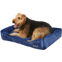 Deluxe Soft Washable Dog Pet Bed - Basket, Bed Cushion with Fleece Lining, Blue / XX-Large
