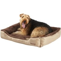Deluxe Soft Washable Dog Pet Bed   Basket  Bed Cushion with Fleece Lining  Cream   XX Large