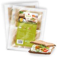 Lizza Low Carb Toasties » Bio » 4 Stück à 50g (94% weniger Kohlenhydrate als herkömmlicher Weizen-Toast) » 2 Pack