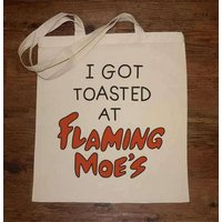 Flaming Moes Tote Bag
