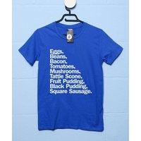 Full Scottish Breakfast List T Shirt