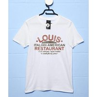 Sale Item - Mens Louis Restaurant T Shirt - Small - White
