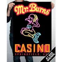 Mr Burns Casino Poster