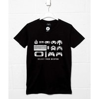Select Your Weapon T Shirt - Game Controllers