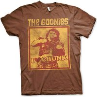 Sale Item - Sale Item - Goonies Mens T Shirt - I Love Chunk Truffle Shuffle - Brown - Medium