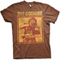 Sale Item - Sale Item - Goonies Mens T Shirt - I Love Chunk Truffle Shuffle - Brown - XXL