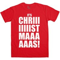 Mens Funny Christmas T Shirt - Its Chriiistmaaas
