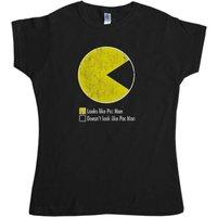Pac Man Pie Chart Womens T Shirt