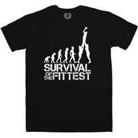 Survival of the Fittest - Rugby Evolution T Shirt
