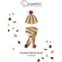 Hat & Scarf Crochet Kit and Pattern