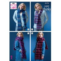 Scarves in King Cole Orbit Super Chunky (5172)