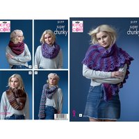 Snoods & Shawls in King Cole Orbit Super Chunky (5177)