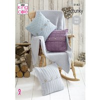 Blanket & Cushions in King Cole Timeless Chunky (5182)