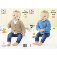 Babies Sweater and Jacket in King Cole Big Value Baby DK 50g (5472K)