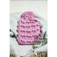 Let´s Knit Beautiful Berries Hot Water Bottle Cosy in West Yorkshire Spinners Re:Treat