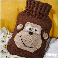 'Simply Knitting Monkey Hot Water Bottle Cover By Amanda Berry In Deramores Studio Dk
