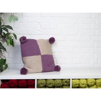 Mossie The Patchwork Cushion by Katie Barber in Deramores Studio Chunky