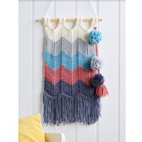 Let´s Knit Knitted Wall Hanging Colour Pack in Deramores Studio Aran