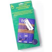 Pony Interchangeable Circular Knitting Needles Set (Bamboo)
