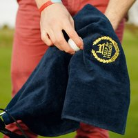 Golf Club Towel With Crest - Default Title / Navy
