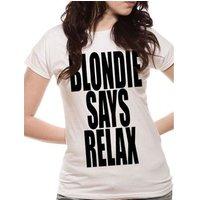 Blondie - Blondie Says Relax Ladies Fitted T-shirt